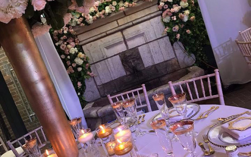 Wedding take decorations