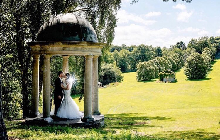 Wedding Couple in The New Garden Folly