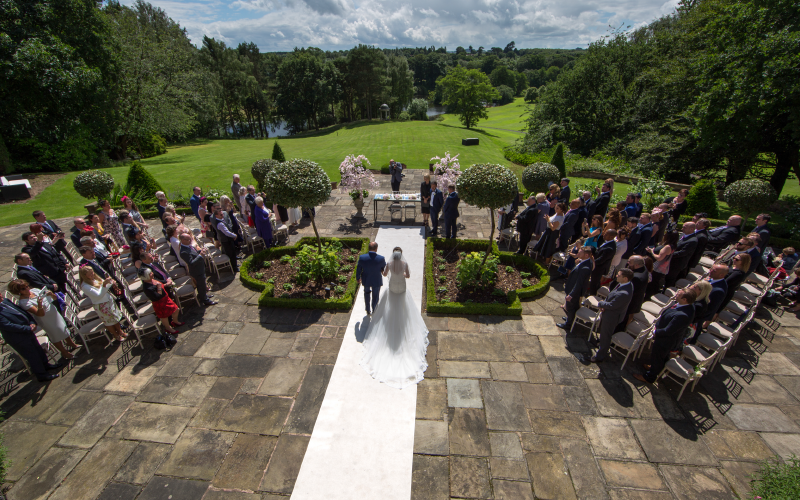 Outdoor Cheshire wedding ceremony