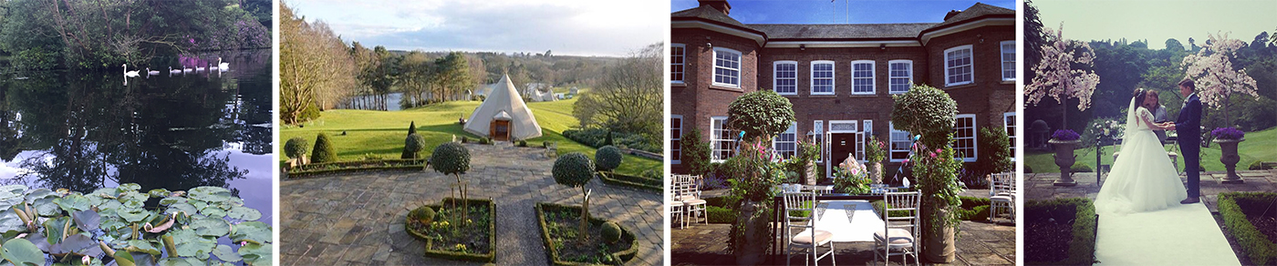 Outdoor wedding ceremony cheshire