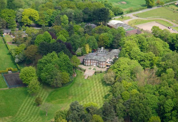 Arial Shot of Delamere Manor and the grounds
