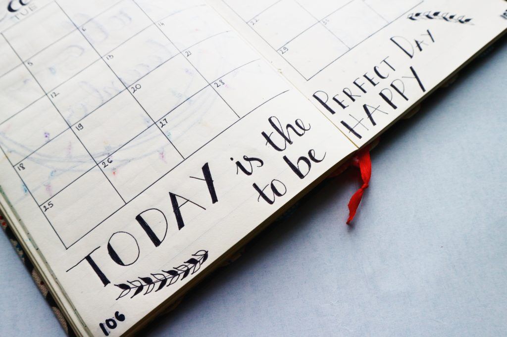 today is the perfect day to be happy calendar