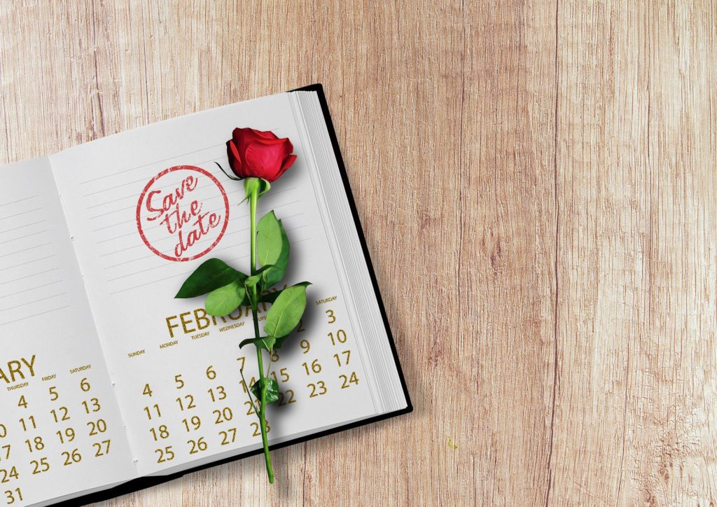 save the date notebook