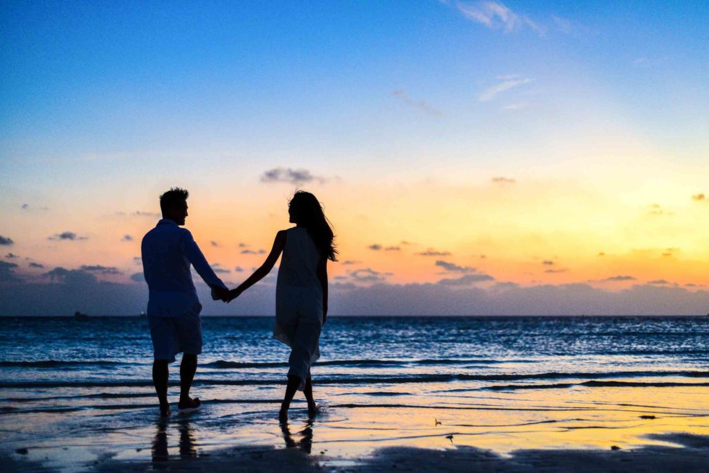 Image describes a couple on honeymoon
