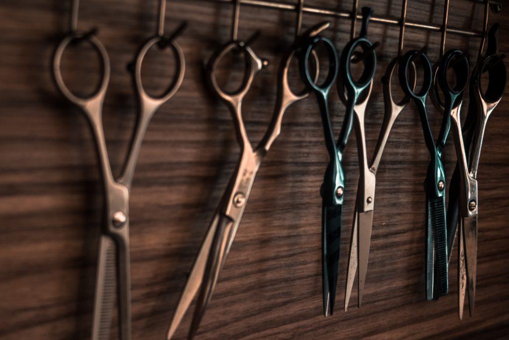 hair scissors hanging