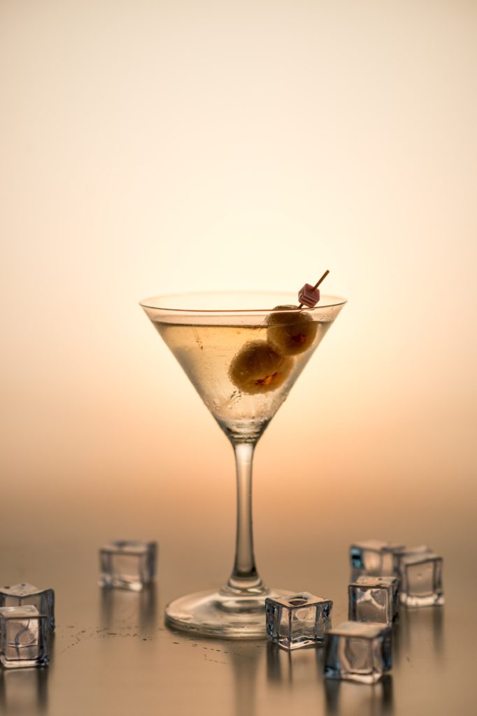 Image describes a martini cocktail