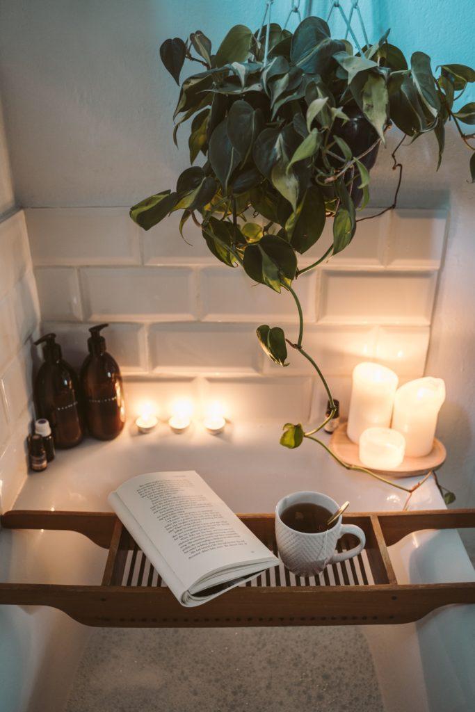 Image describes a relaxing bath
