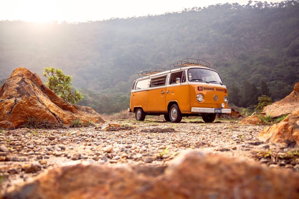 Adventure with a camper van.