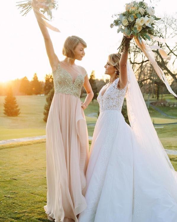 Image describes Taylor Swift as a bridesmaid.