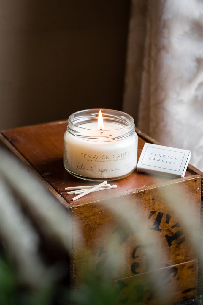 Image describes a wedding gift candle.