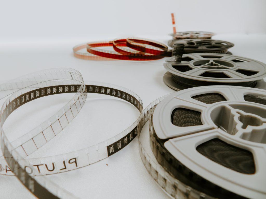 Image describes film reels.