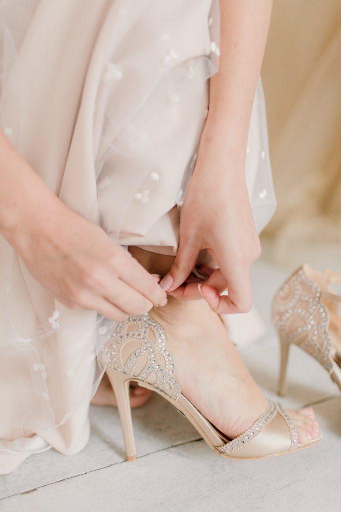 Image describes wedding shoes.